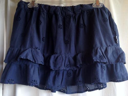 minifalda lambada talla  azul, 100 % algodon comprada en usa