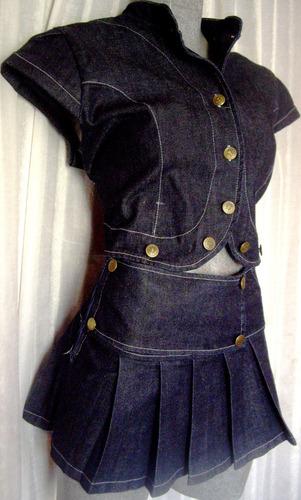 minifalda mezclilla stretch. hay media y maxi y tallas extra