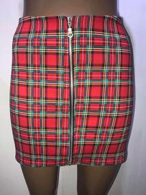 87c8c031f Minifalda Pollera Escocesa Con Cierre