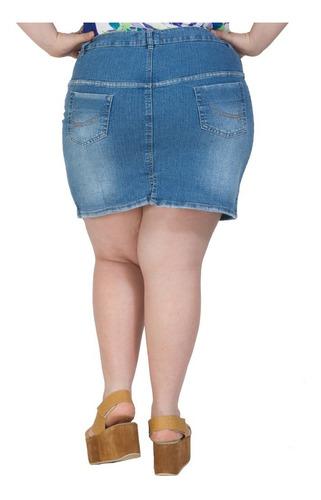 minifalda portofem de jean con spandex - talles grandes
