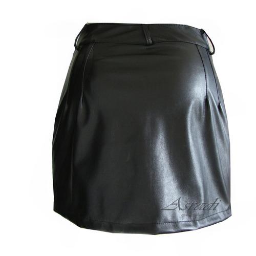 minifalda vinipiel biker rocker metal gotica steampunk sexy