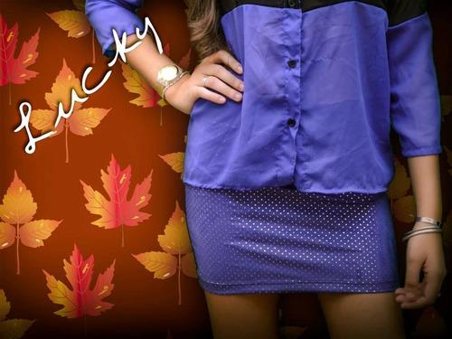 minifaldas, gamuzada,