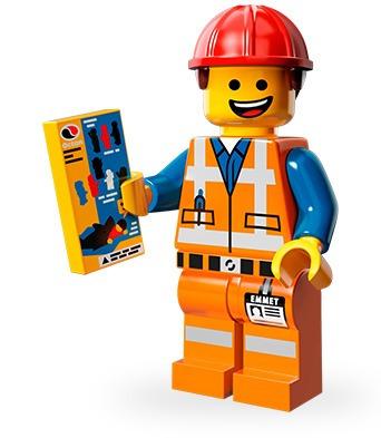 minifig emmet protagonista de la pelicula  lego the movie