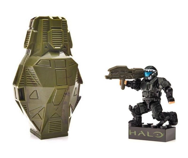 Action Figures Mega Bloks Halo White Spartan Drop Pod