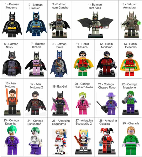 minifiguras bonecos de montar super heróis compatível lego