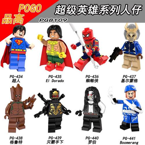 minifiguras estilo lego dc marvel