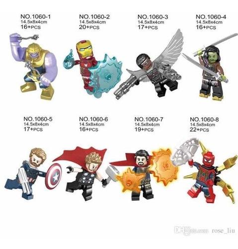 minifiguras lego compatible vengadores iron spider thanos