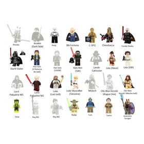 Minifigure Star Wars Blocos Padrão Lego