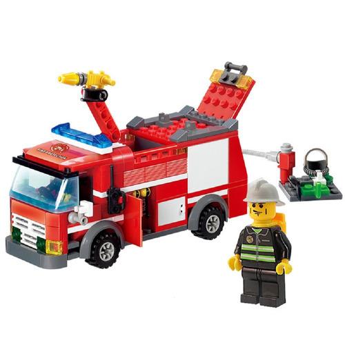 minifigures dos bombeiros caminhão de montar brinquedo show