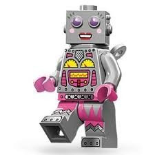 minifigures lego (71002-16) série 11 lady robot