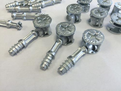 minifix / maggifix castanha 15 + parafuso 6x35mm kit 200