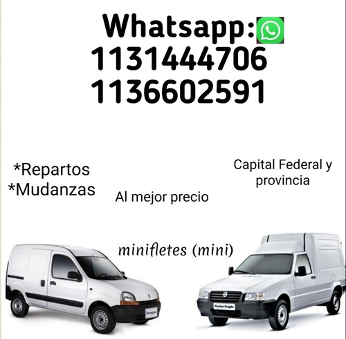 minifletes/repartos /mudanzas _precio a convenir...