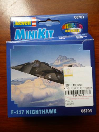 minikit avião f-117 nighthawk ja pintado