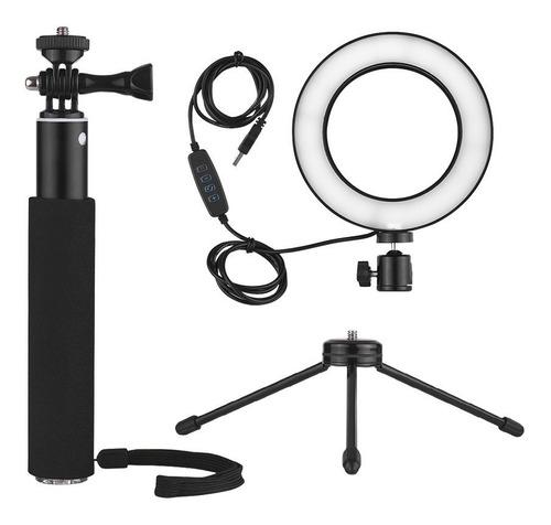 minilámpara led p/grabar video dimerizable 6 in con 3 modos
