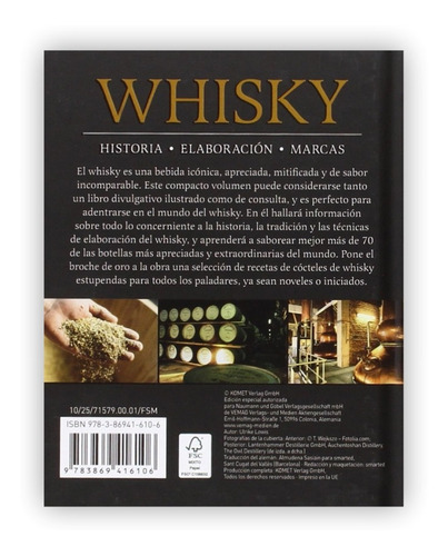 minilibro: whisky - historia elaboracion marcas (t.d)