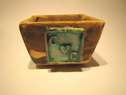 minimaceta de cerámica c/suculenta o plantita para souvenir