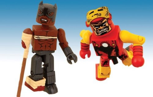 minimates marvel zombies black panther & zombie iron man