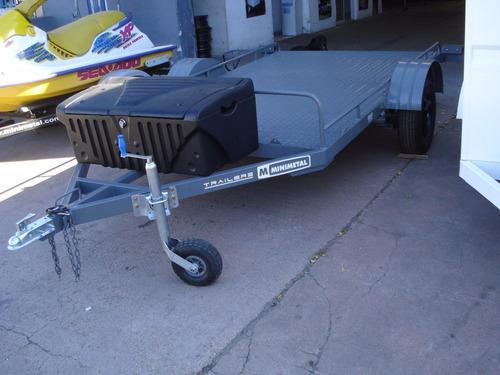 minimetal fabrica trailer para motos - cuatriciclos - utv