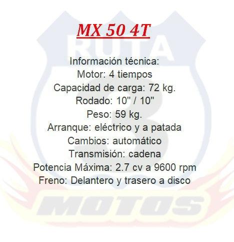 minimoto 50 4 tiempos 0km