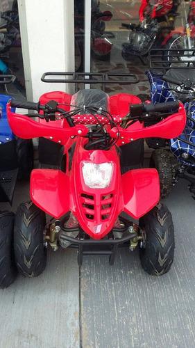 minimoto atv 110cc color rojo y azul capacidad 65k.
