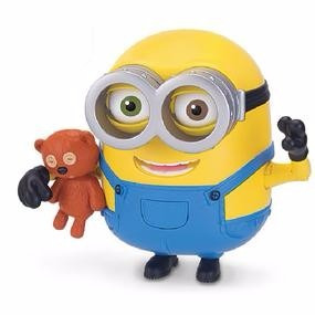 minion bob interactivo con teddy bear original 20 cm