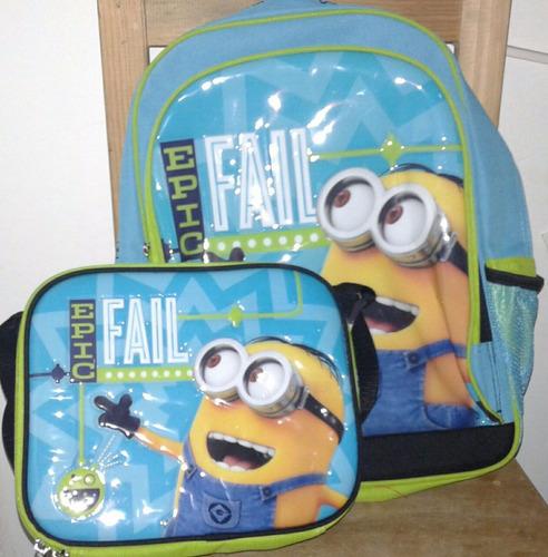 minion mochilas con loncheras
