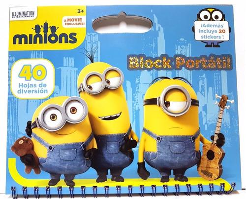 minions - block portátil