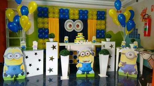 minions completo 10 peças decoração festa frete incluso mdf