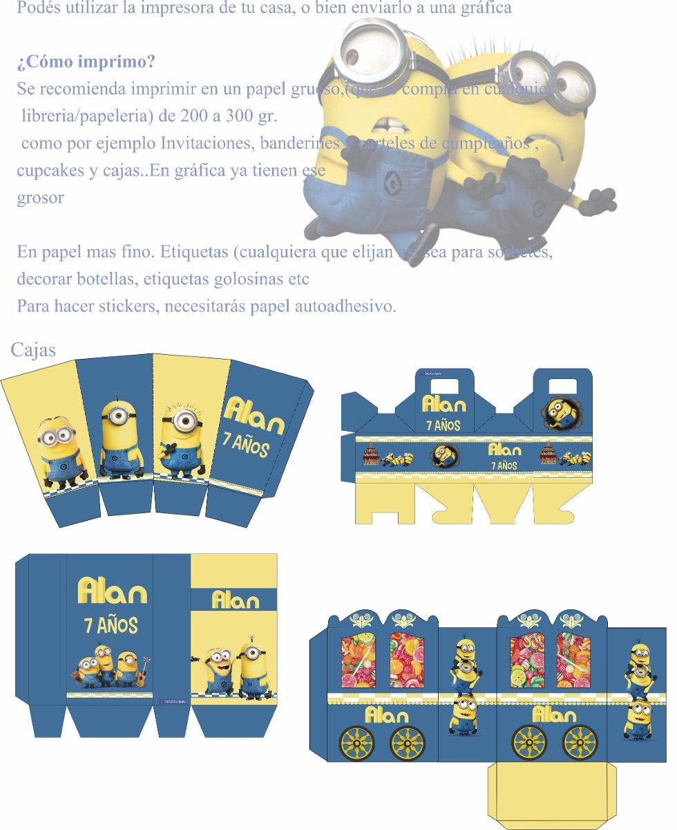 Minions Kit Imprimible Personalizados Decoracion Cumpleanos