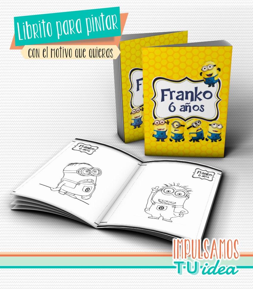 Minions - Librito Pintar Para Imprimir - $ 125,00 en Mercado Libre