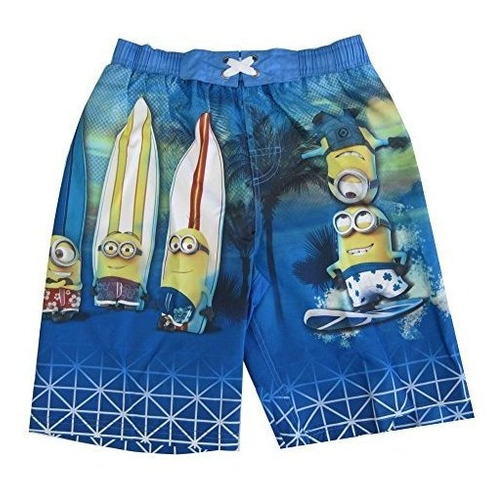 minions little boys sky blue surfin cartoon personaje trajes