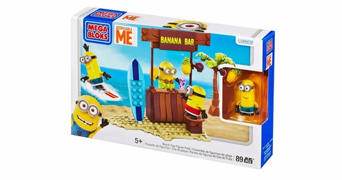 minions mega bloks día playa original 89 pc banana bar cnc79