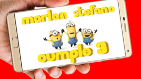 Minions Video Tarjeta Invitación Cumpleaños Whatsapp Digital