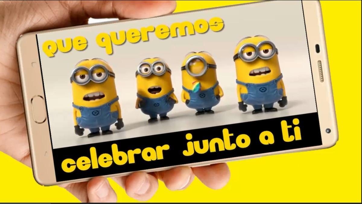 Minions Video Tarjeta Invitación Cumpleaños Whatsapp M1