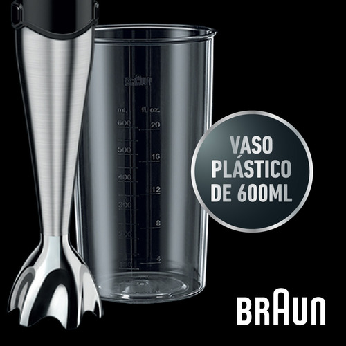 minipimer 750w mixer smart speed braun br-4199 mq700 sopas