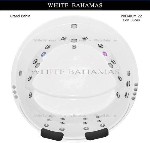 minipiscina redonda white bahamas 180 x180 esp10 c/luces