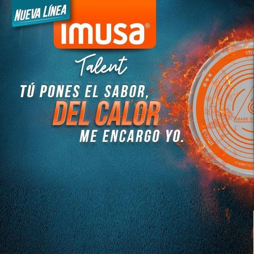 miniplancha p/asar redonda imusa a/a talent 586102929