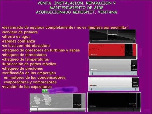 miniplits venta servicio instalación reparación mantenimient