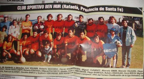 miniposter - sportivo ben hur de rafaela año 1992