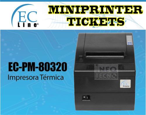 miniprinter termica corte automatico tickets punto de venta