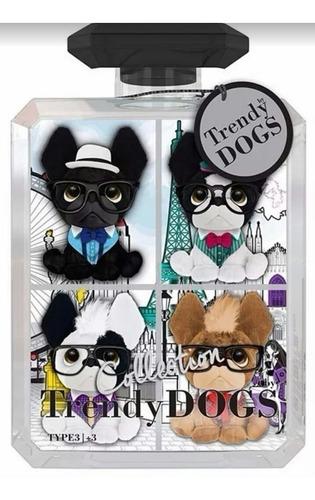 minis trendy dogs pack x 4 peluches perros perfumados intek