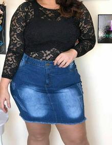 03b0f3290 Mini Saia Plus Size - Saias Femininos Azul Mini ao melhor preço no Mercado  Livre Brasil