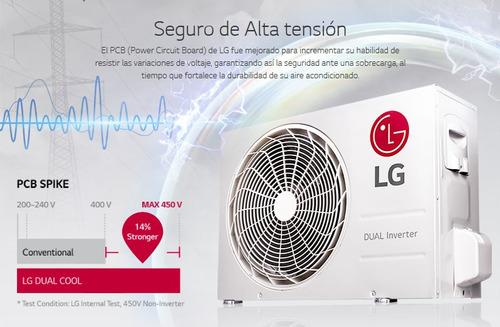minisplit dual inverter lg 1 tonelada (12000btus) 220v