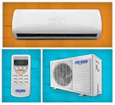 3 equipos de aire acondicionado con calefacción.