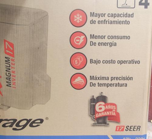 minisplit inverter mirage 1ton. 110v magnum 17 solo frio