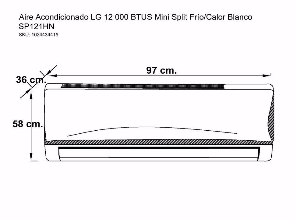 Minisplit lg 2 tonelada 220v frio calor 13 en for Cuanto gasta un aire acondicionado