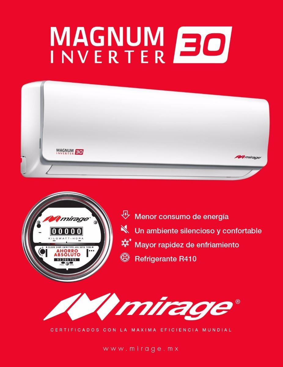 Minisplit Mirage Inverter 1 Tonelada Magnum 30 Seer 220v