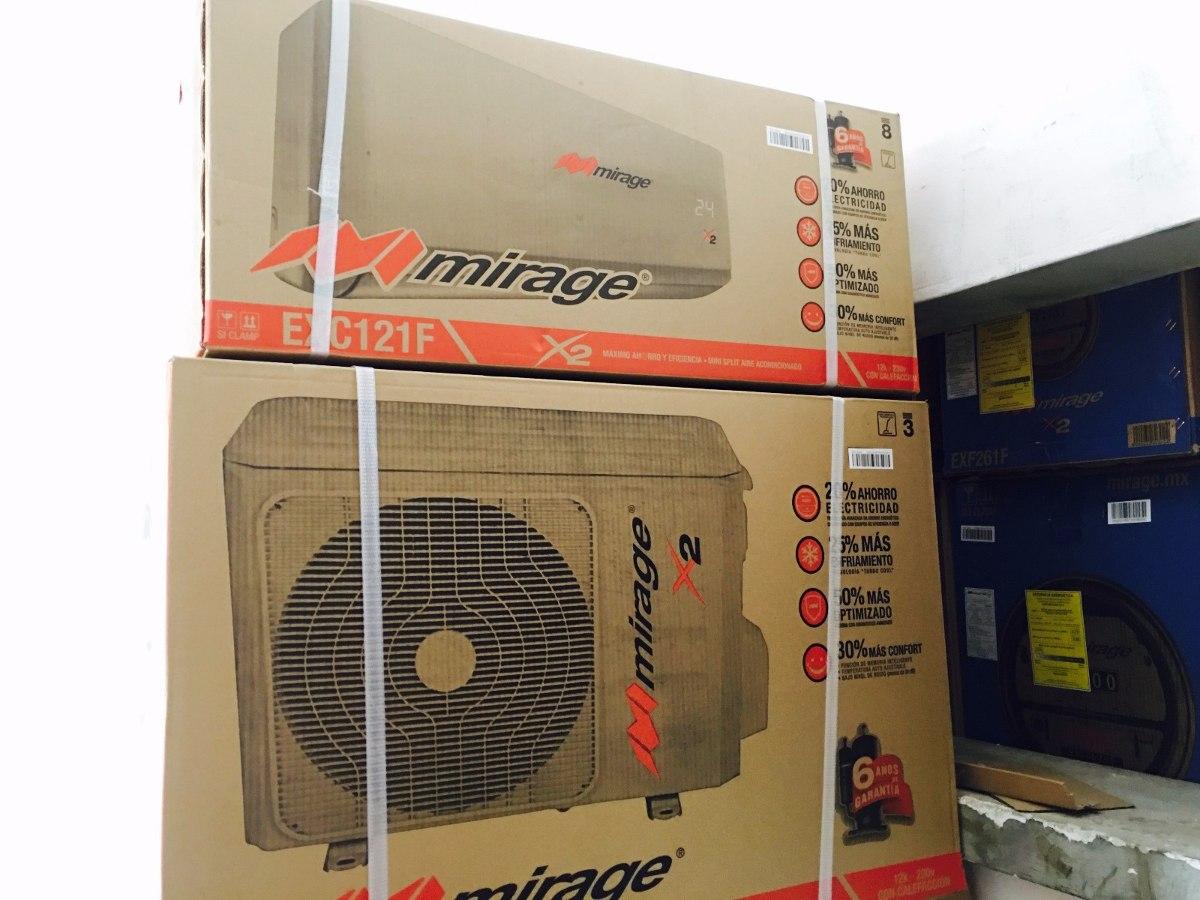 Minisplit Mirage X2 1 Tonelada 220v Frio Y Calor