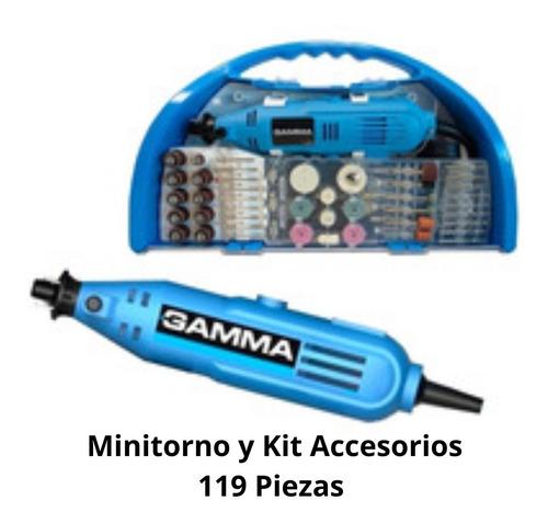 minitorno gamma 130 watts + maletin kit 119 piezas g 19501