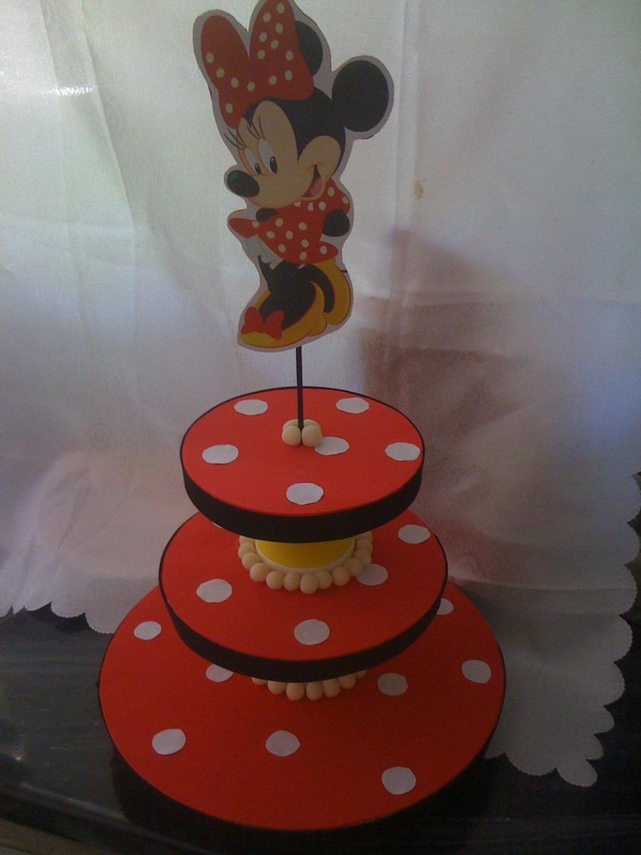 Minnie bases para cupcakes o souvenirs centros de mesa for Bases para mesas de centro